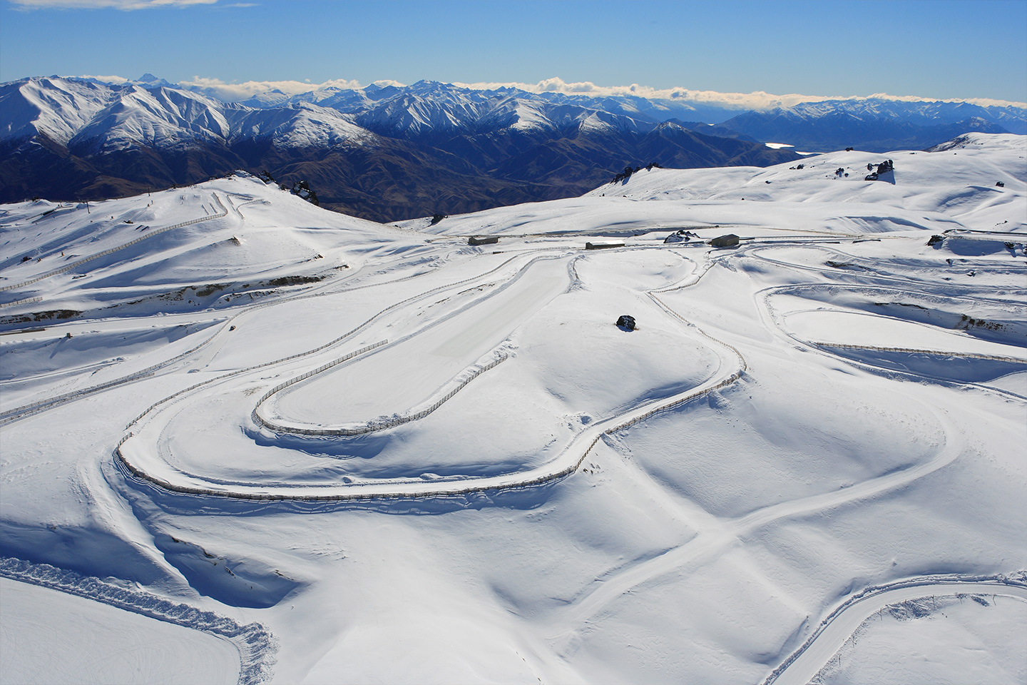 Snow and Ice race track - New Zealand on Ice