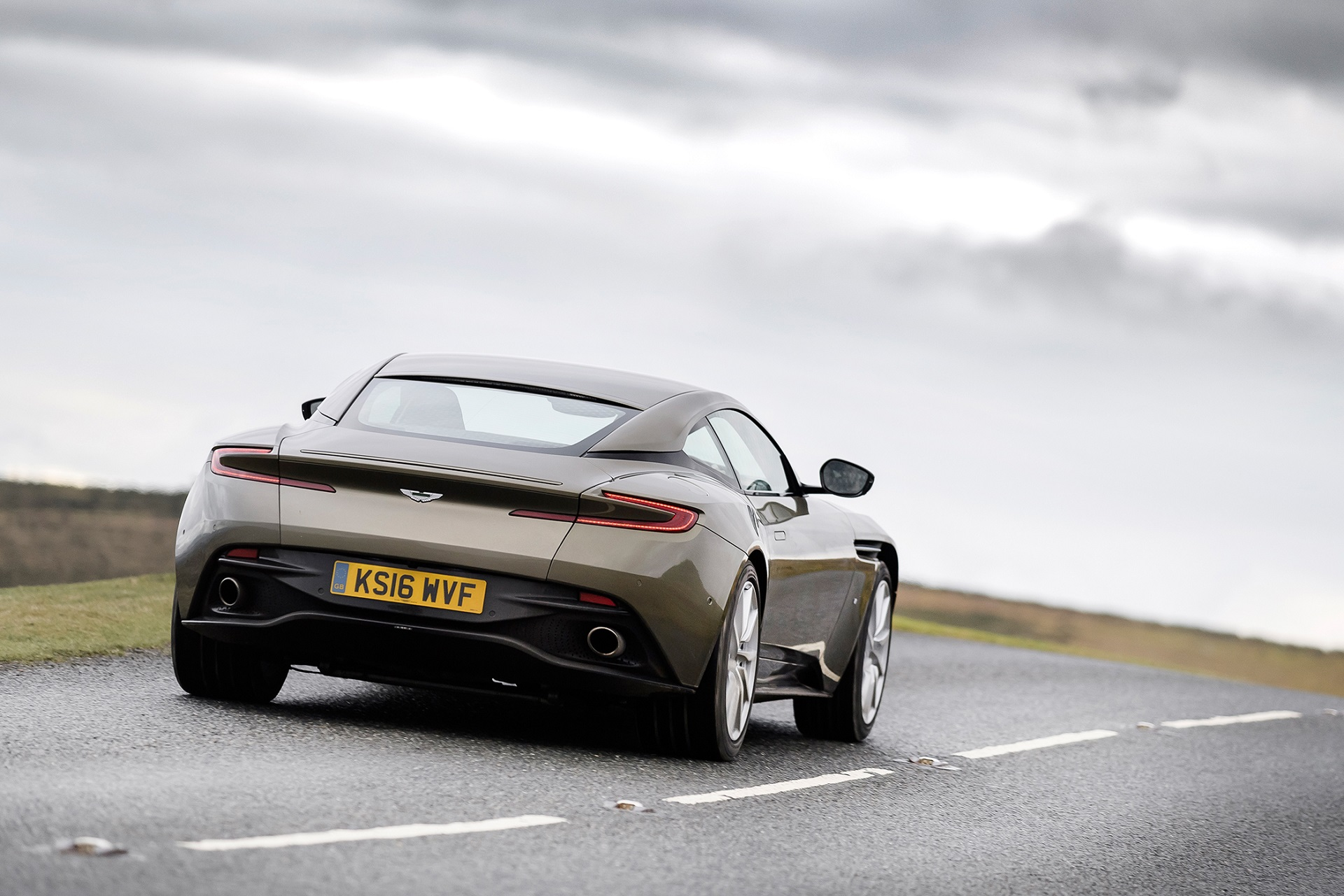 Aston Martin DB11 on the open road