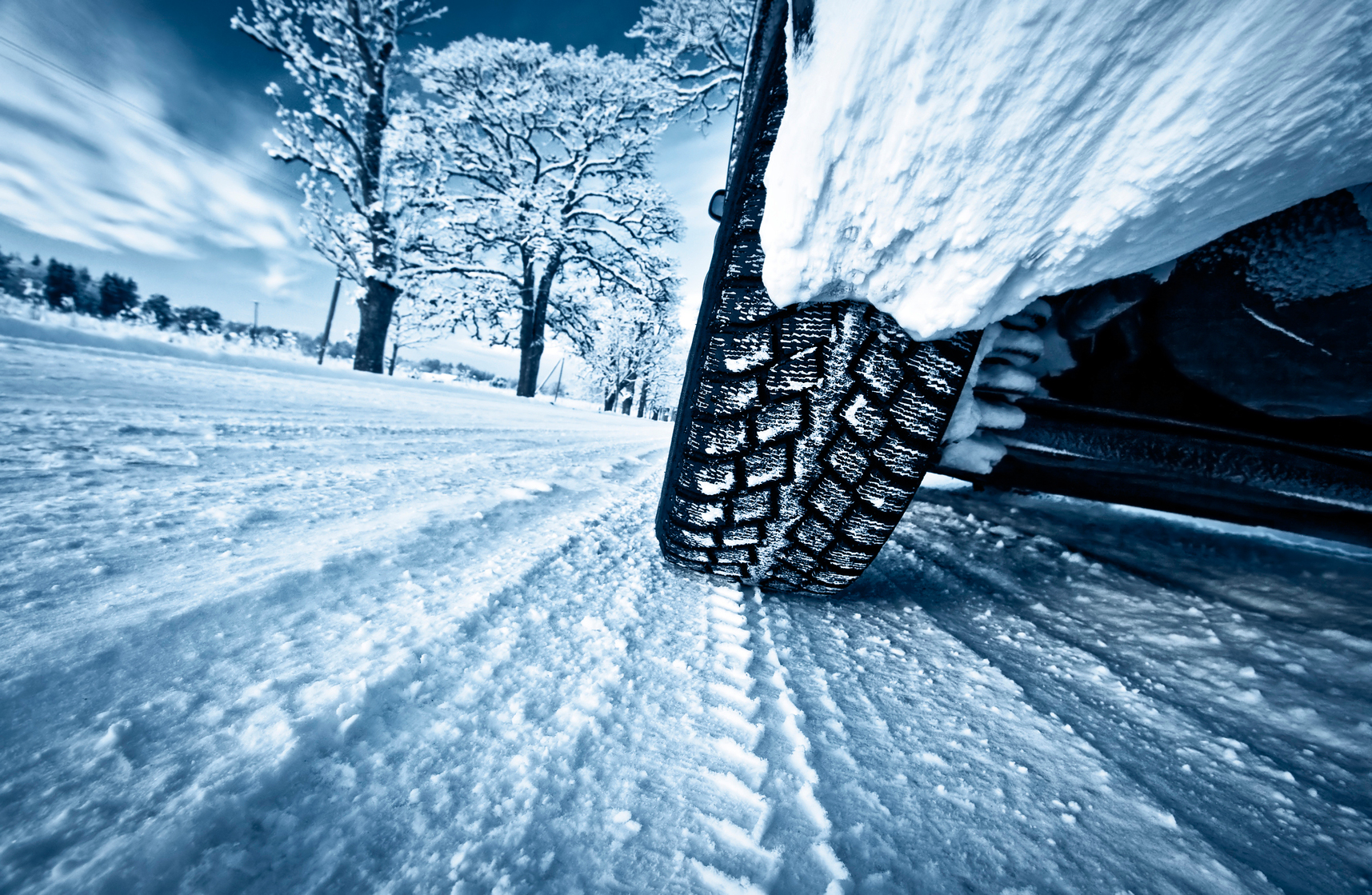 Close-up image of wheels and tyres during New Zealand on Ice event
