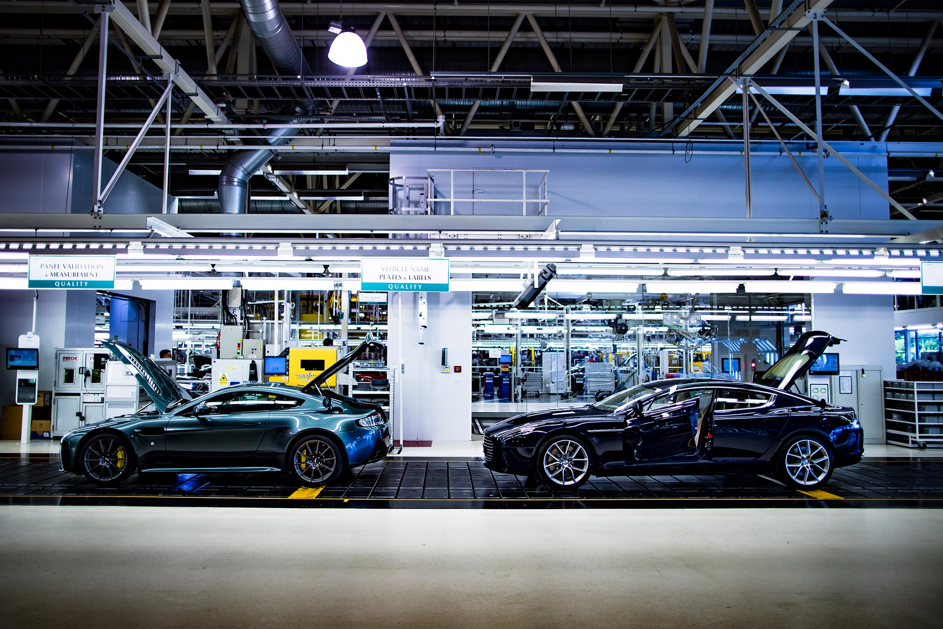 Quality bay at Aston Martin factory, Gaydon